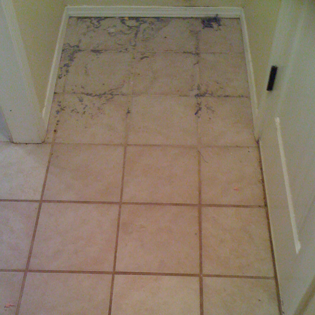 Before-Tile & Grout Cleaning